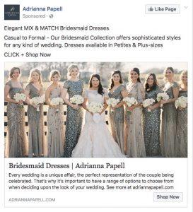 Facebook photo ad