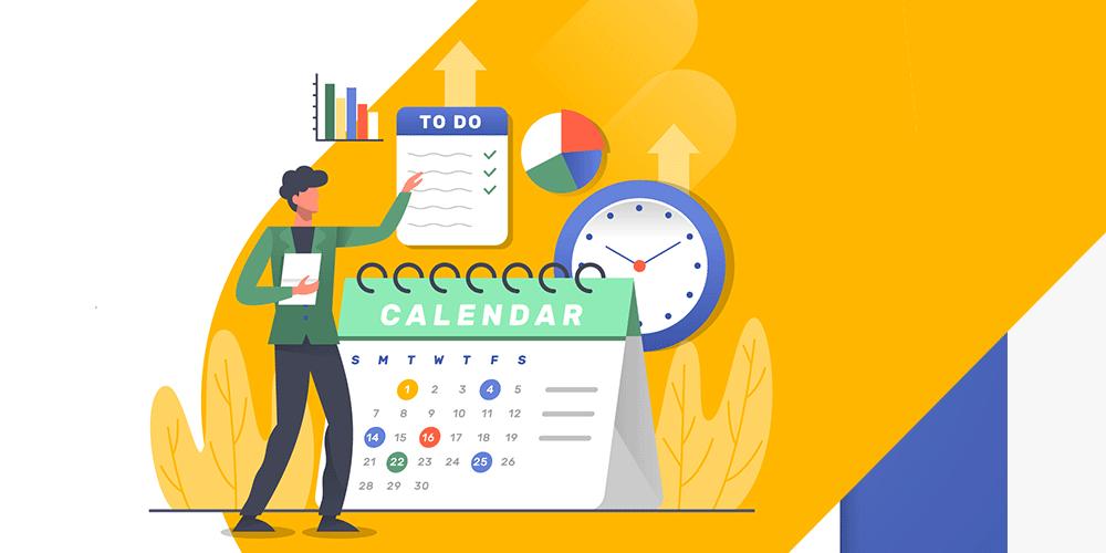 Create social media calendar for B2B